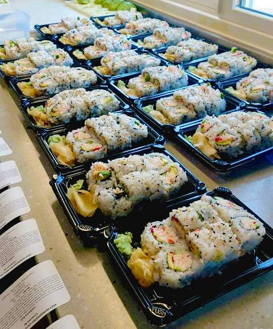 Have your party catered with a sushi chef who will set up, prepare sushi, and break down in a matter of hours.