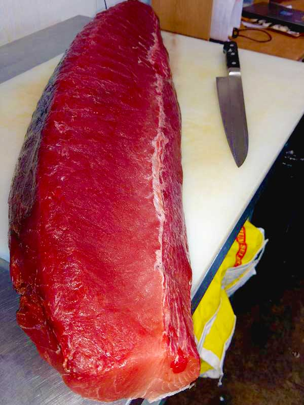 Raw Dead Fish is one of the few sushi bars that uses real fresh Ahi Tuna.