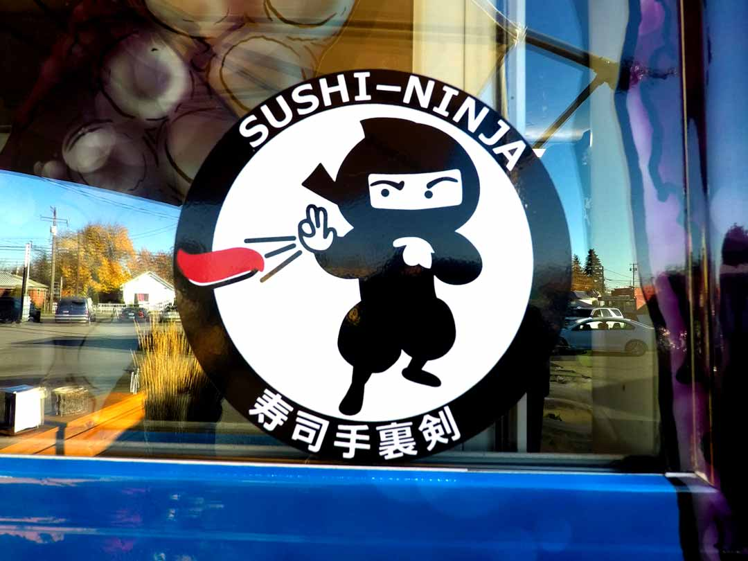 We are sushi ninjas. We even have a sushi ninja sticker on our truck!